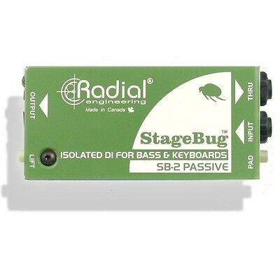Radial Engineering StageBug SB-2 Passive DI Acoustic Direct Box Keyboard Bass
