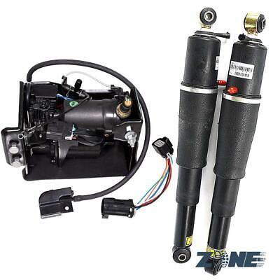 2 PCS Air Suspension shocks & Compressor Pump For Escalade Suburban Tahoe Yukon