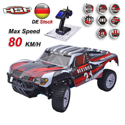 HSP 1/10 RC Truck Car Auto 4WD Nitro Powered RTR Short Course 2.4G Transmitter A