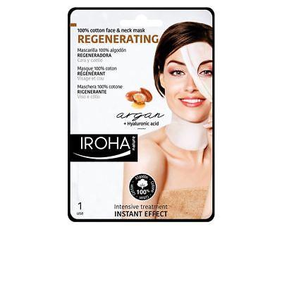 Iroha Nature Regenerating Cotton Face And Neck Mask Argan Oil 1 Unit Women