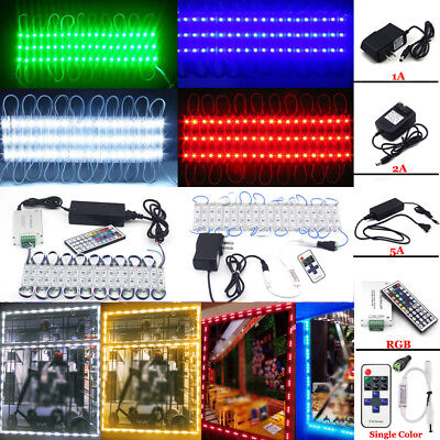 10~100FT 5050 SMD 3 LED STORE FRONT Window Light module +US power supply +Remote - Supply Store