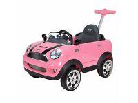 Pink Mini Cooper Push Buggy