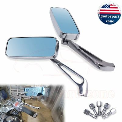 Motorcycle Bike Chrome Rearview Mirrors For Harley Sportster Glide Universal USA