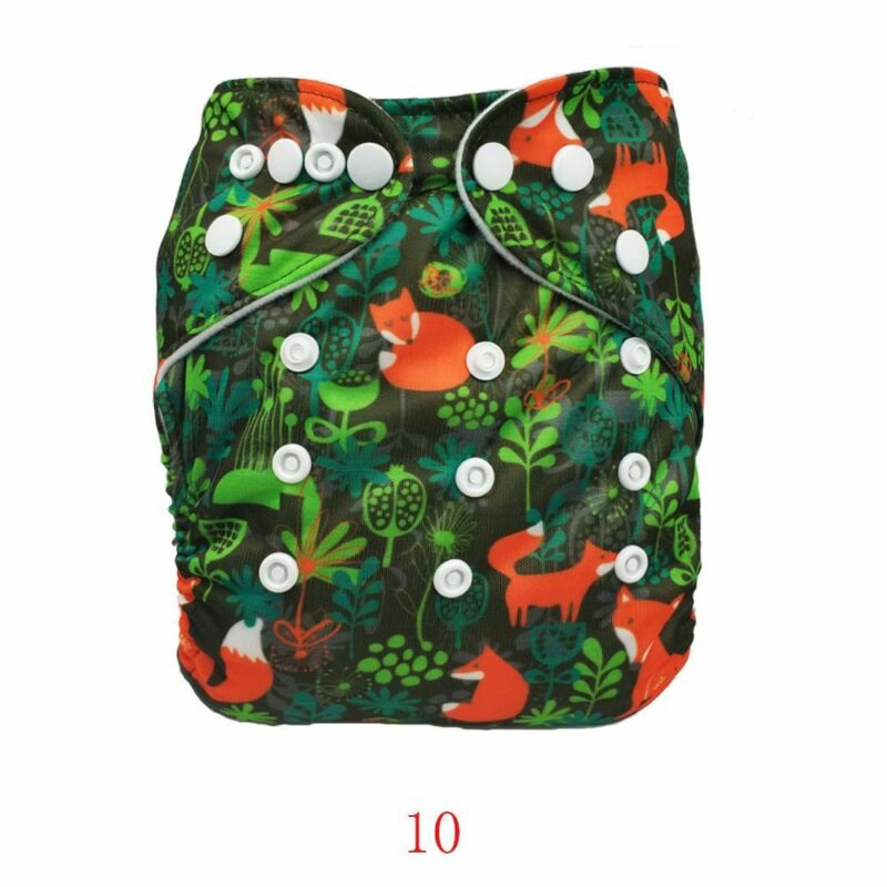 30 Colors Baby Diaper Cover Reusable PUL Double Gussets Cloth Nappy Fit:3-15kgs