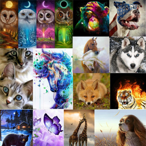 5D Full Drill Diamond Painting Animals World Embroidery Cros
