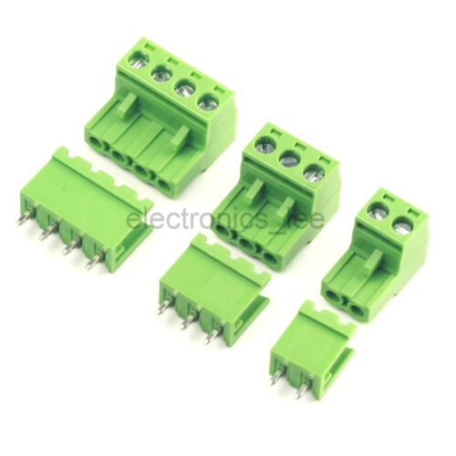 10sets 2EDG 2 3 4Pin Plug-in Screw Terminal Block Connector 5.08mm Straight