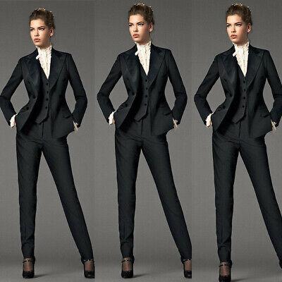 Black 3 Piece Suits Women Business Suit Formal Female Office Uniform Ladies (Ladies 2 Piece Suits)
