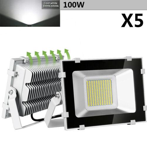 5X 100W LED Flood Light Outdoor Security Garden Landscape Sp
