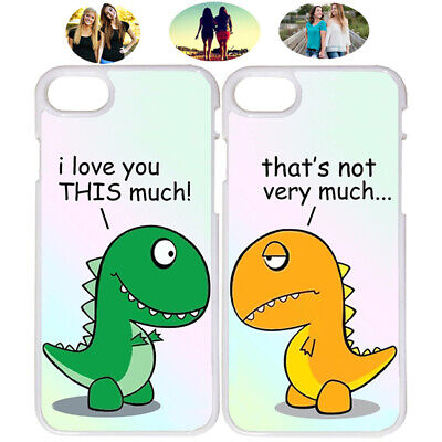 Funny Cute Dinosaurs Best Friend Phone Case Cover For iPhone X XR 6 7 8 S9