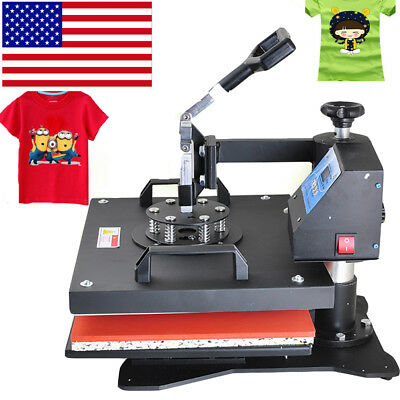 8in1 Transfer Heat Press Digital Machine Sublimation T-shirt Mug Plate Diy Make