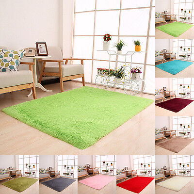 Fluffy Rugs Anti-Skid Shaggy Area Rug Home Bedroom Floor Mat Home Decor Carpet