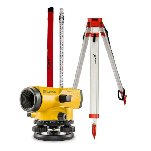 Topcon 1012379-53 AT-B4A/PS 24X Automatic Level Tripod and ROD included