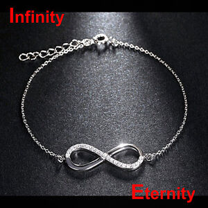 Edles Infinity Eternity Armband Unendlichkeit Ewige Liebe 925 Silber NEU + TOP
