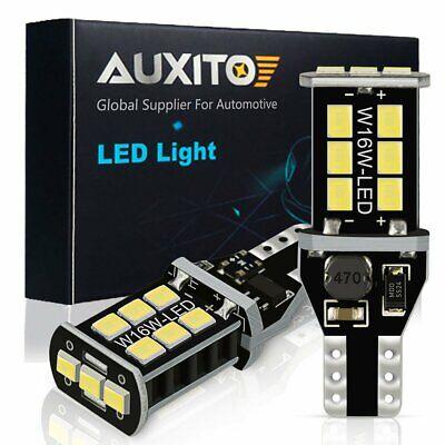 2X 1400LM 921 912 T15 High Power LED White Backup Reverse Light Bulbs CANBUS 15E