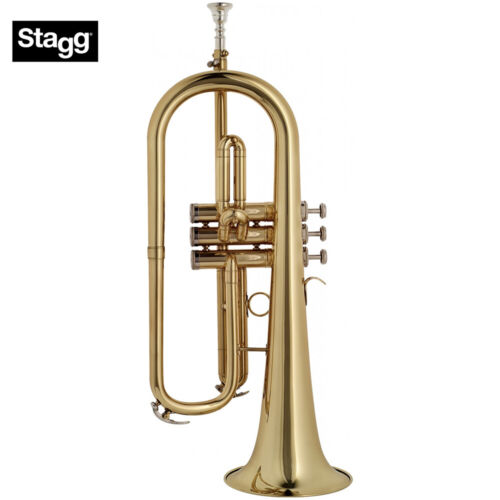 Stagg WS-FH215 Bb Flugelhorn Clear Lacquer w/ Silver Plated Mouthpiece and Case