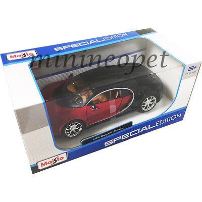 Maisto  31514 Bugatti Chiron 1 24 Diecast Model Car Black Red