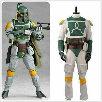 Movie Star Wars Boba Fett Superhero Fighter Suit Adult Outfit Cosplay Cos Dress!](Boba Fett Suit)