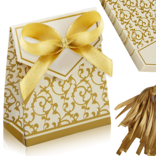 100 wedding favour favor sweet cake gift candy boxes bags anniversary party ebay. Black Bedroom Furniture Sets. Home Design Ideas