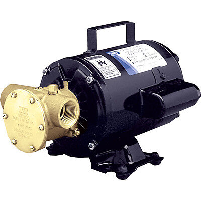 Jabsco Boat Marine Utility Pump With Open Drip Proof Motor 115V  Self-Priming