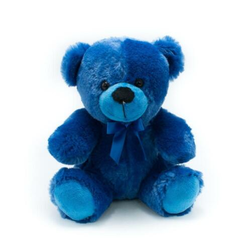 "9"" Royal Blue Plush Teddy Bear Stuffed Animal Toy Gift New"