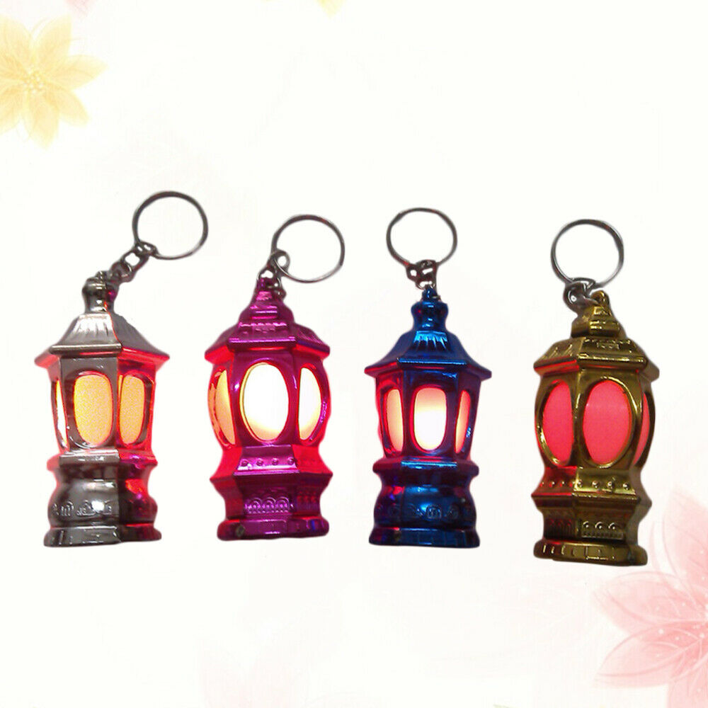 20pcs Portable Mini LED Keychain Lantern Design Key Chain Keyring Light Lamp Gif