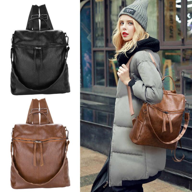 Damen Rucksack Anti Diebstahl Wasserdicht Leder Daypack Schulter Tasche Reise DE