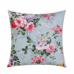 NEW 2 Shabby Chic Vintage Floral Duck Egg Cushion Covers Pillow Atwell Cockburn Area Preview
