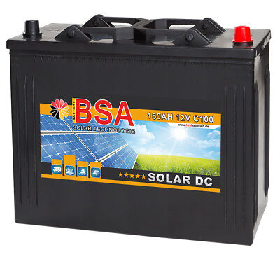 BSA Solarbatterie 12V 150Ah Solar Antrieb Marine Beleuchtung Versorgung Batterie Marine Batterie