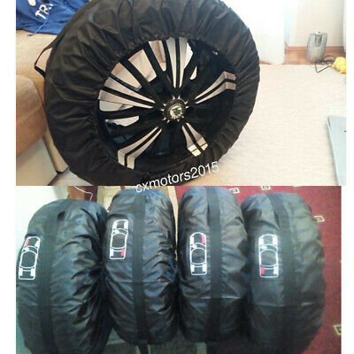 """Spare Tire Storage Protection Bag 13""""-15"""" Wheel Tyre Carry Tote Cover 4 Pcs"""