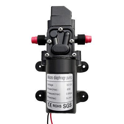 12v Dc 60w Home High Pressure Diaphragm Water Self Priming Pump 100 Psi 5lmin