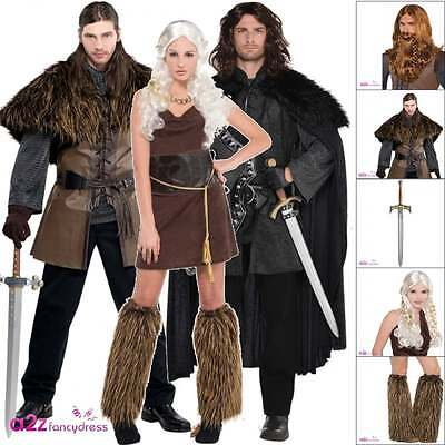 Adult Warrior TV Game of Thrones Jon Snow Mother of Dragons Fancy Dress Costume