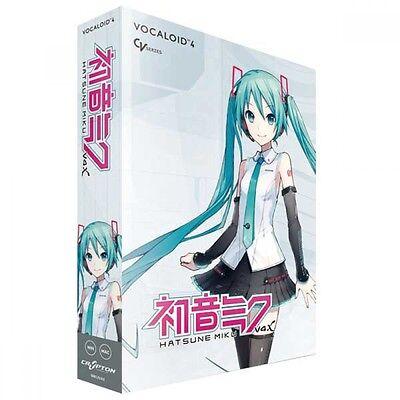 Vocaloid4 Hatsune Miku V4X Crypton Future Media DVD Software Windows Mac F/S