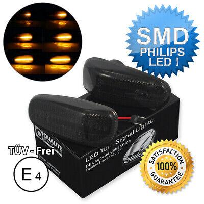 2x DYNAMISCHE LED SEITENBLINKER BLINKER SCHWARZ MERCEDES W202 W210 W124 VW LT II