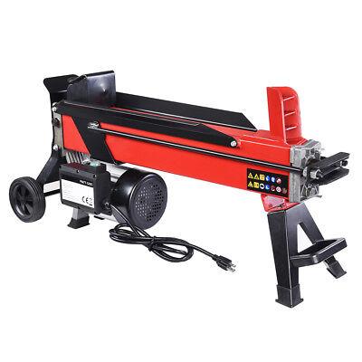 Electrical Hydraulic Log Splitter 7 Ton Powerful Firewood Wo