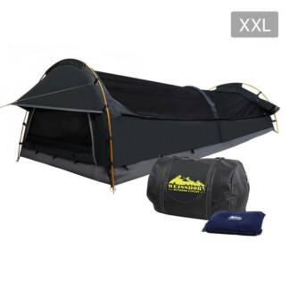AUS FREE DEL-Compact Deluxe King Single Swag Camping Swag Grey