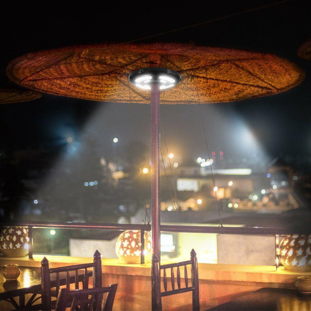 Patio Umbrella Light LED Lighting Under Umbrella Rechargeabl