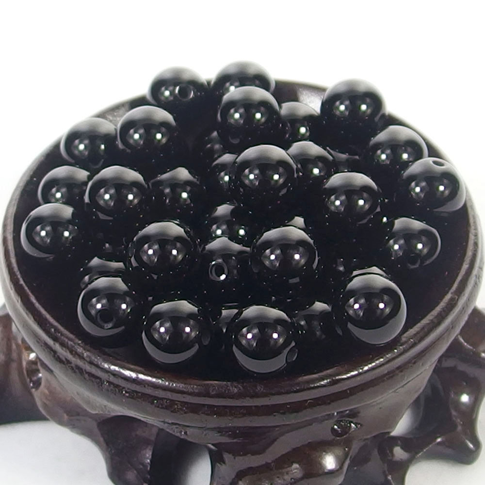 Bulk Gemstones I natural spacer stone beads 4mm 6mm 8mm 10mm 12mm jewelry design black agate