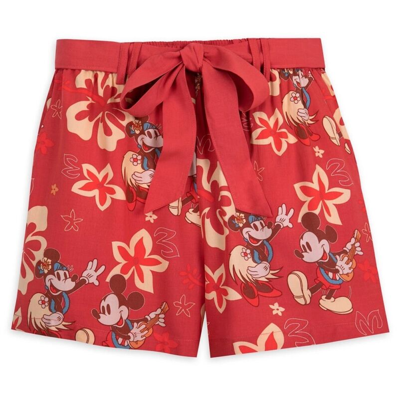 Disney Mickey and Minnie Retro Tropical Shorts for Women Size XL