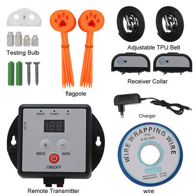 Dog Fence Boundary Kit - 1/2 Dog Collar Pet Containment System Electric Shock Boundary Control Fence Kit