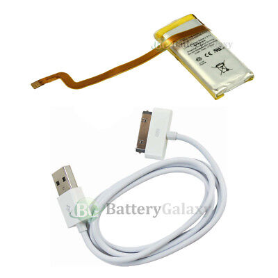 NEW Battery+USB Cable for Apple iPod Video 5th Gen 30gb 616-0223 5G 800+SOLD Apple Video Usb Cable
