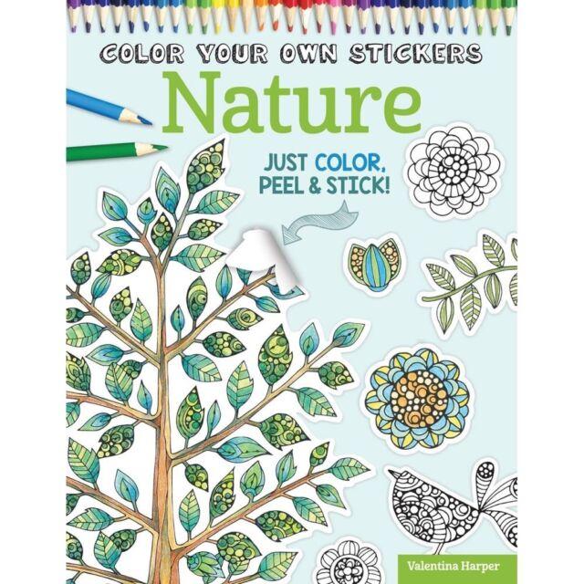 Design Originals -Color Your Own Sticker - Nature