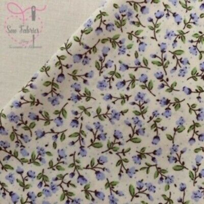 Rose and Hubble Lilac Ditsy Floral Fabric 100% Cotton Poplin Purple Flower Mater