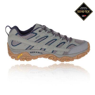 Merrell Mens MOAB 2 GORE-TEX Waterproof Walking Shoes - Grey Sports (Merrell Moab Gore Tex Waterproof Walking Shoes)