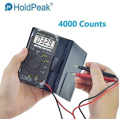 Mini Digital Multimeter Auto Range 4000 Counts Acdc Amp Ohm Voltmeter Tester