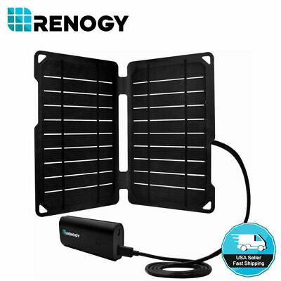 Renogy E.Tense 10W Foldable Solar Panel w/ 5000mAh Power Bank USB Phone Charger
