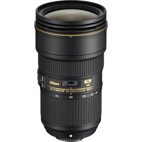 Nikon AF-S NIKKOR 24-70mm f/2.8E ED VR Wide-Angle Zoom Lens Black 20052