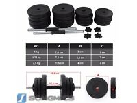 Songmics 30KG Dumbell Barbell Weights Set BRAND NEW