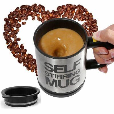 Plastic Coffee Mug (Black Self Stirring Mug Coffee Cup Tea Auto Mixer Drink Insulate Stainless)
