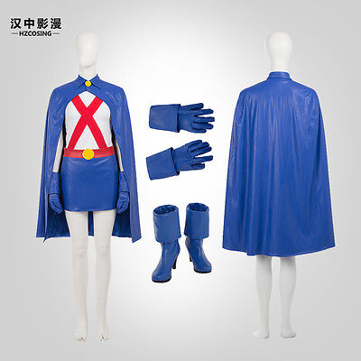 Young Justice Costumes (HZYM Young Justice Miss Martian Cosplay Costume Full Suit Custom)