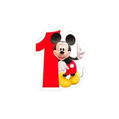 Playful Mickey Mouse 1. Geburtstag Zahlenkerze Geburtstagskerze Party Deko